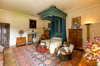 The blue Bedroom, Hanbury Hall, Worcestershire.