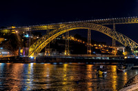 Luis 1 Bridge at night, Porto, Portugal, September 2018