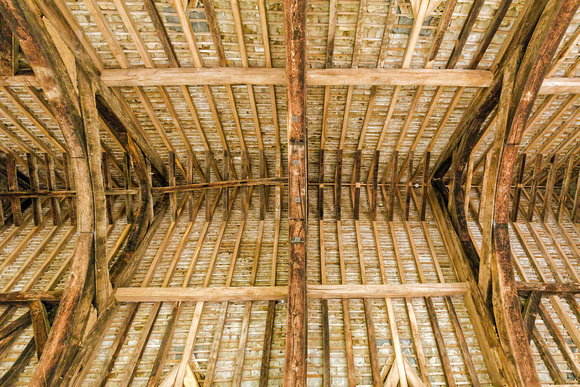 Great Hall Roof Timbers, Stokesay Castle, Shropshire.