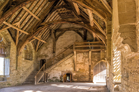 The Great Hall, Stokesay Castle, Shropshire, April 2017